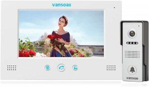 VANSOALL Monitor Wired Video Intercom Doorbell System